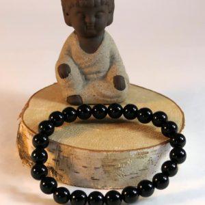 Bracelet obsidienne noire Minéraux et Cristaux